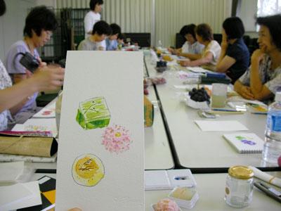 2011年9月の絵のある手紙スケッチ教室